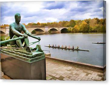 Kelly At The Oars Canvas Print by Alice Gipson