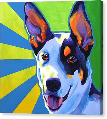 Kelpie - Oakey Canvas Print by Alicia VanNoy Call