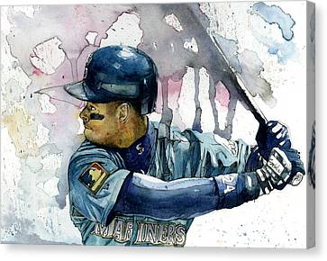 Ken Griffey Jr. Canvas Print by Michael  Pattison