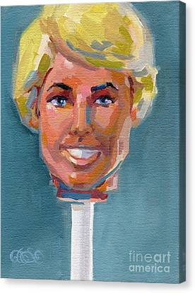 Ken On A Stick Canvas Print by Kimberly Santini