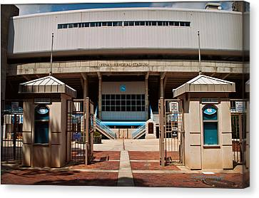 Kenan Memorial Stadium - Gate 6 Canvas Print by Paulette B Wright