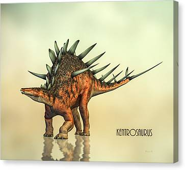 Kentrosaurus Dinosaur Canvas Print by Bob Orsillo