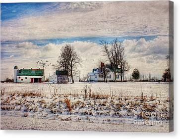 Kentucky Snow Day Canvas Print by Darren Fisher