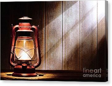 Kerosene Lantern Canvas Print by Olivier Le Queinec