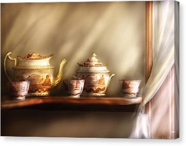 Kettle - My Grandmother's Chinese Tea Set  Canvas Print by Mike Savad