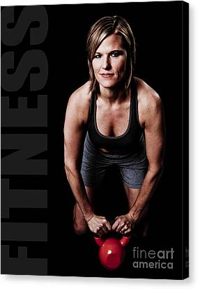 Kettlebell Time Canvas Print by Jt PhotoDesign