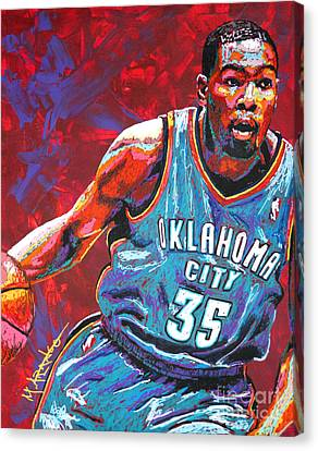 Kevin Durant 2 Canvas Print by Maria Arango