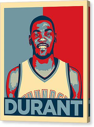 Kevin Durant Canvas Print by Taylan Soyturk