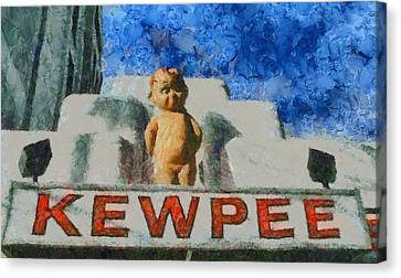 Kewpee Restaurant Lima Ohio Canvas Print by Dan Sproul