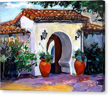 Key Hole Archway 415 Canvas Print by Renuka Pillai