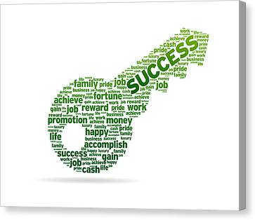 Key To Success Canvas Print by Aged Pixel