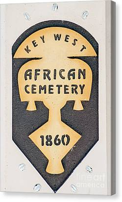 Key West African Cemetery 3 - Key West Canvas Print by Ian Monk