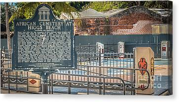 Key West African Cemetery 7 - Key West - Panoramic - Hdr Style Canvas Print by Ian Monk