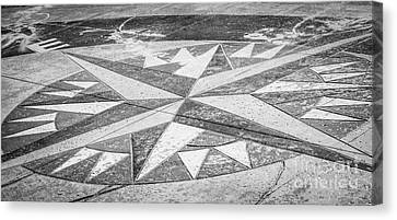 Key West African Cemetery - Key West - Black And White Canvas Print by Ian Monk