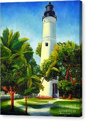 Key West Lighthouse Canvas Print by Shelia Kempf