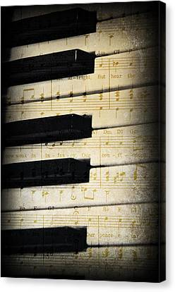 Keyboard Music Canvas Print by Kenny Francis