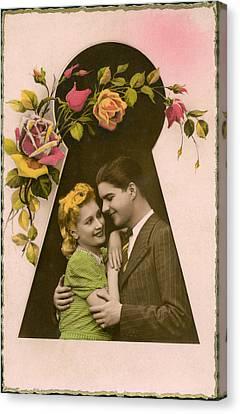 Keyhole Embrace Canvas Print by Underwood Archives