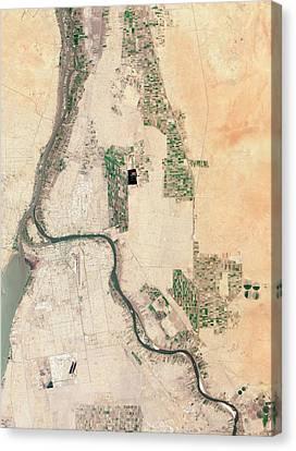 Khartoum Canvas Print by Nasa Earth Observatory