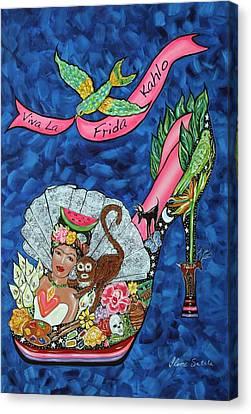 Kick Up Your Heels Frida Canvas Print by Ilene Satala