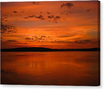 Kimberley Sunset Canvas Print by Laura Hiesinger