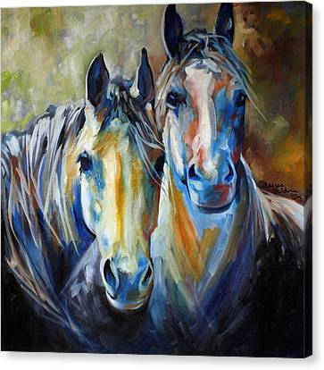 Kindred Souls Equine Canvas Print by Marcia Baldwin