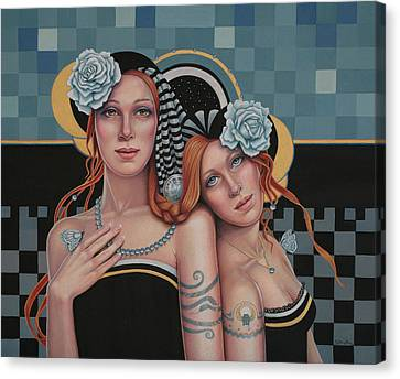 Kindred Spirits Canvas Print by Susan Helen Strok