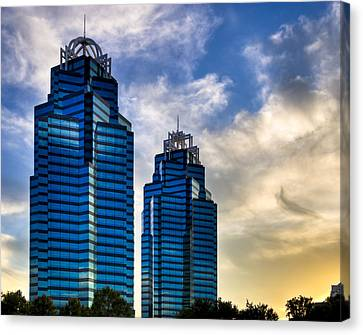 King And Queen Towers - Atlanta Canvas Print by Mark E Tisdale