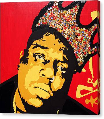 King Big Canvas Print by Voodo Fe Culture