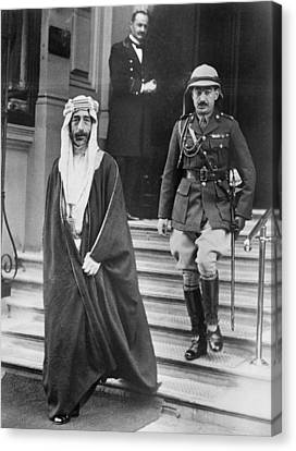 King Feisal Of Iraq Canvas Print by Underwood Archives