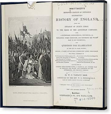 King John Signing The Magna Carta Canvas Print by British Library