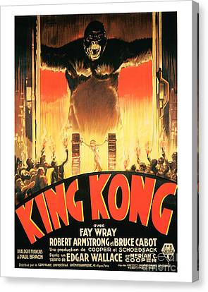 King Kong Movie Poster Canvas Print by MMG Archive Prints