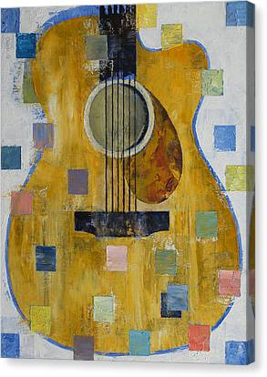 King Of Guitars Canvas Print by Michael Creese