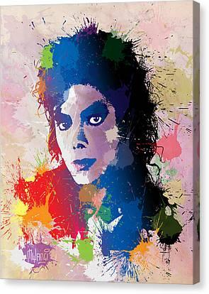 King Of Pop Canvas Print by Anthony Mwangi