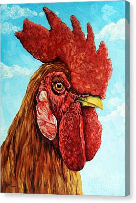 King Of The Roost Canvas Print by Linda Apple
