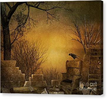 King Of The Ruins Canvas Print by Bedros Awak