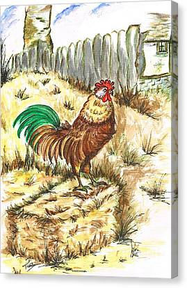 King Rooster Canvas Print by Teresa White