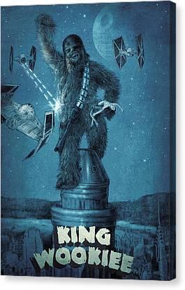 King Wookiee Canvas Print by Eric Fan