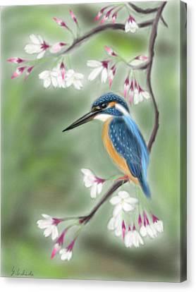 Kingfisher 19 Canvas Print by Yoshiyuki Uchida