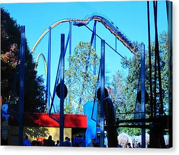Kings Dominion - Dominator - 12129 Canvas Print by DC Photographer