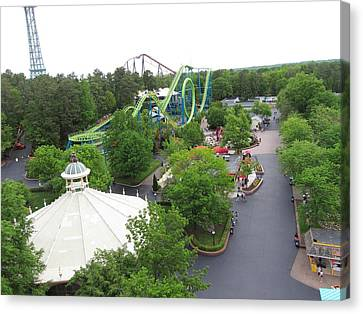 Kings Dominion - Shockwave - 01133 Canvas Print by DC Photographer