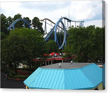 Kings Dominion - Shockwave - 12121 Canvas Print by DC Photographer