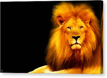 King's Portrait Canvas Print by Lourry Legarde