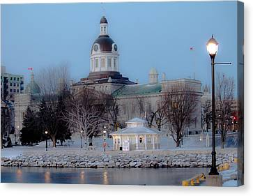 Kingston City Hall Canvas Print by Michel Soucy