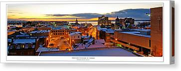 Kingston Cityscape At Sunrise Canvas Print by Paul Wash
