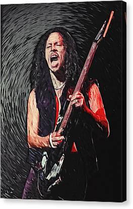 Kirk Hammett Canvas Print by Taylan Apukovska