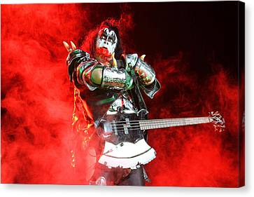 Kiss - 40th Anniversary Tour Live - Bloody Simmons Canvas Print by Epic Rights
