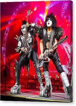 Kiss - 40th Anniversary Tour Live - Simmons And Stanley Canvas Print by Epic Rights