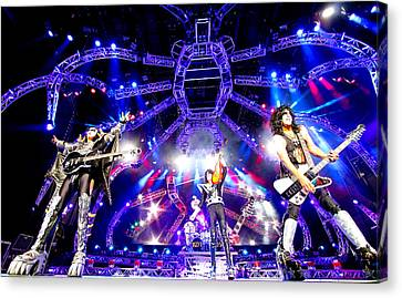 Kiss - 40th Anniversary Tour Live - Simmons, Stanley, And Thayer Canvas Print by Epic Rights