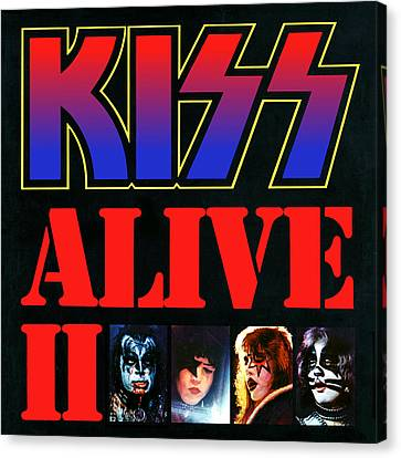 Kiss - Alive II Canvas Print by Epic Rights
