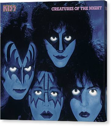 Kiss - Creatures From The Night Canvas Print by Epic Rights